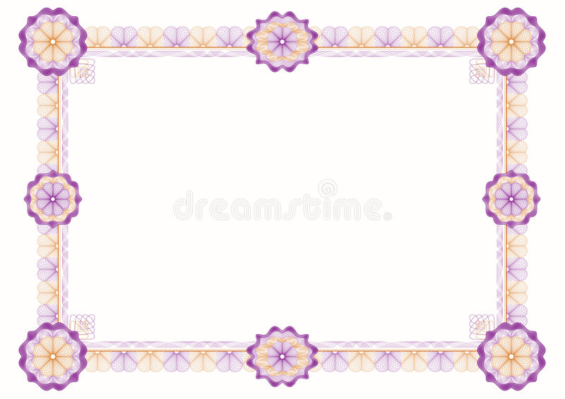 Guilloche: classic decorative frame with rosettes royalty free illustration