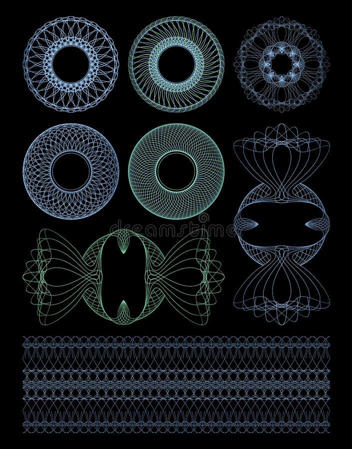 Guilloche decorativo dos rosettes. ilustração stock