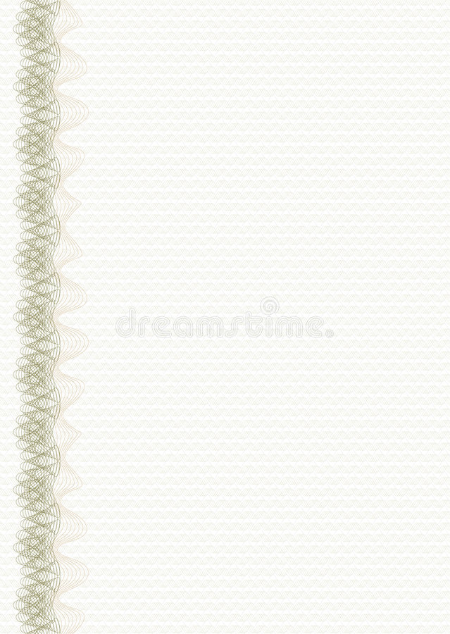 Guilloche - disposição com tira vertical ilustração do vetor