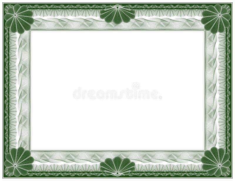 Guilloche - frame royalty free illustration
