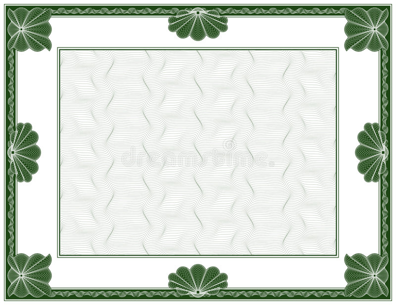 Guilloche - frame. Security drawing (guilloche) for protecting dokuments such as certificate, diploma, checks or bonds