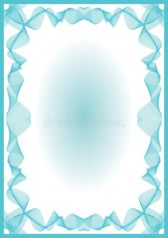 Download Guilloche  frame stock vector. Illustration of intersection - 18200881
