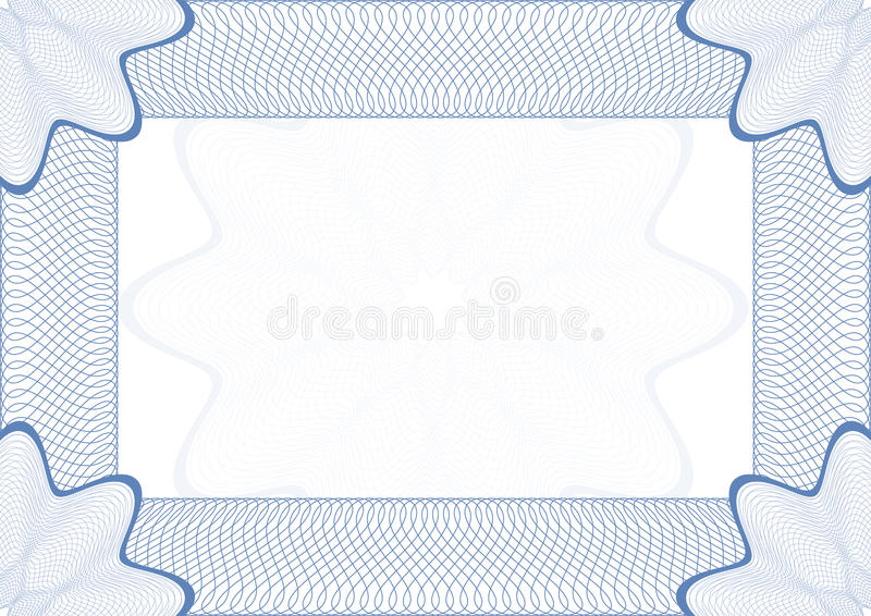 Download Guilloche  frame stock vector. Image of decoration, certificate - 19411289