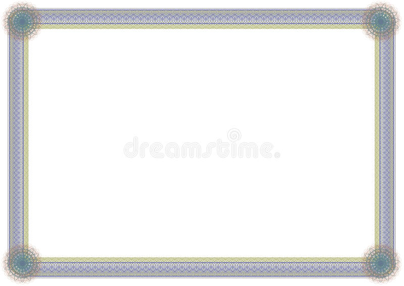 Guilloche frame stock illustration