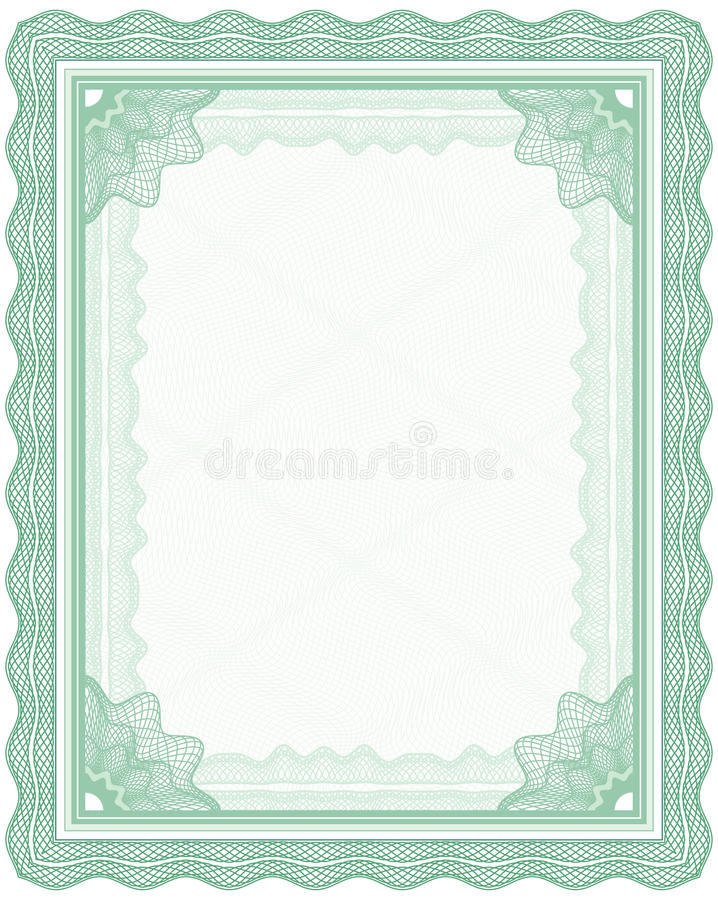 Download Guilloche frame stock vector. Illustration of decor, currency - 25971682