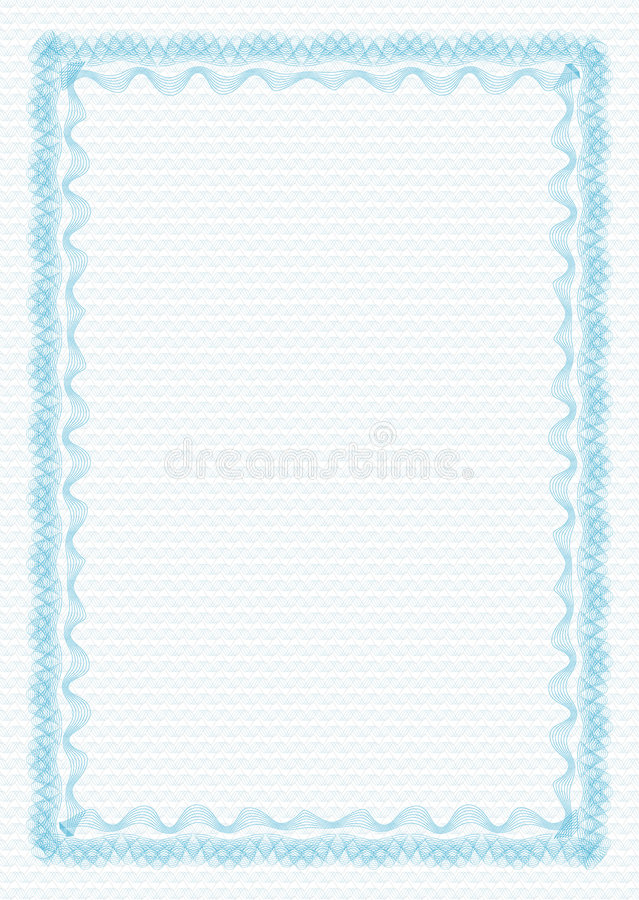 Guilloche - frame with background royalty free illustration