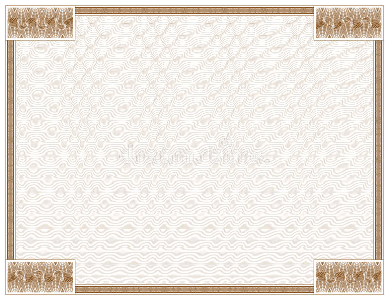 Guilloche - frame with background stock illustration
