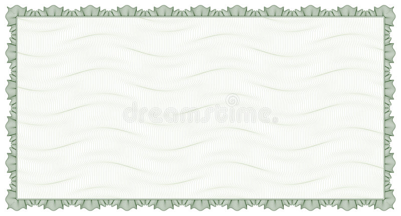 Guilloche - frame with background vector illustration
