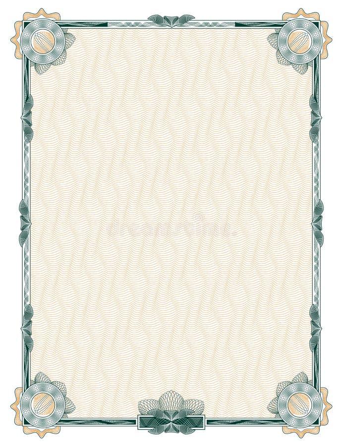 Guilloche: frame decorativo clássico ilustração do vetor