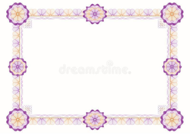 Guilloche: frame decorativo clássico com rosettes ilustração royalty free