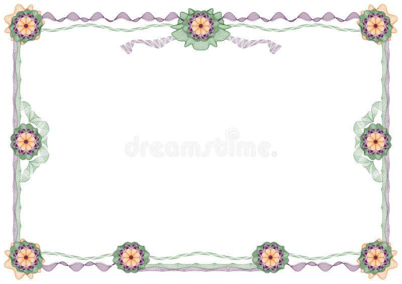 Guilloche: frame decorativo clássico com rosettes ilustração do vetor