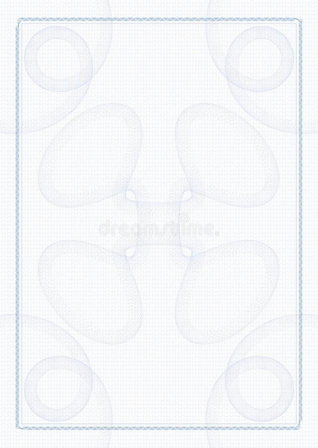 Guilloche - frame met achtergrond stock illustratie
