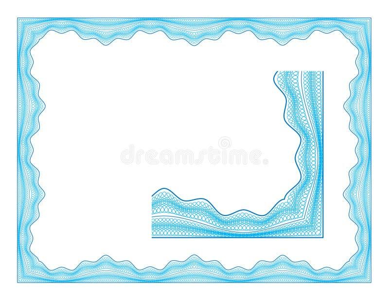 Guilloche grens royalty-vrije illustratie