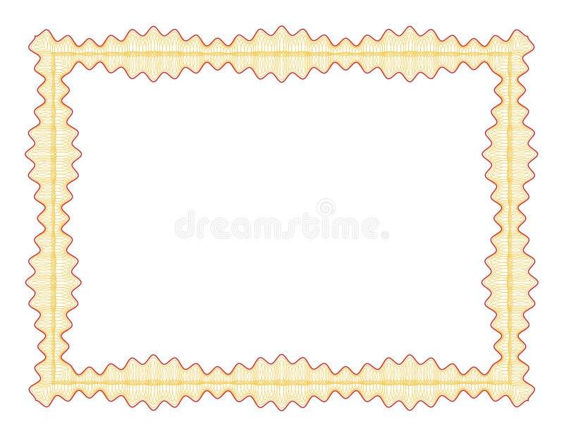 Guilloche grens vector illustratie