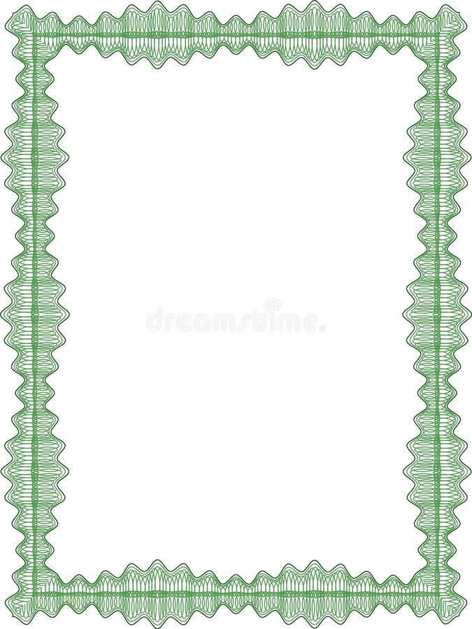 Guilloche grens voor diploma royalty-vrije illustratie