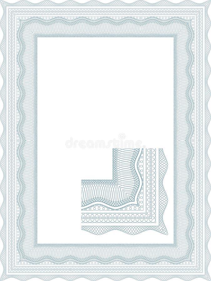 Guilloche grens voor diploma vector illustratie