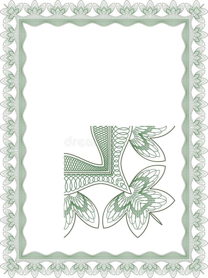 Guilloche grens voor diploma stock illustratie
