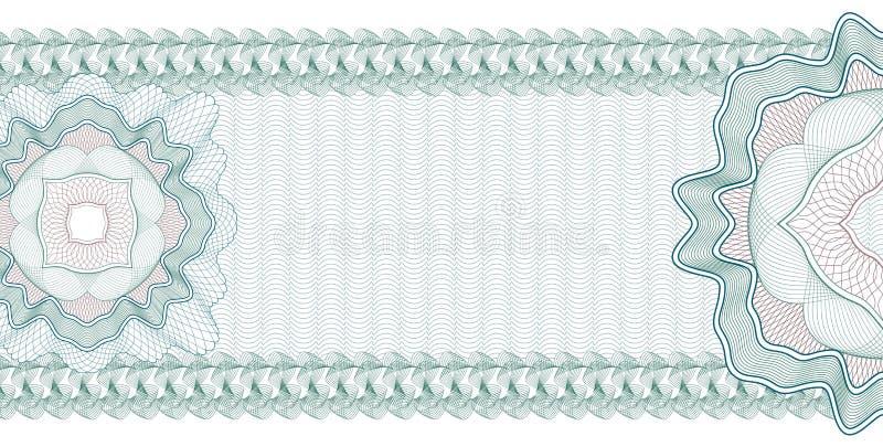 Guilloche-Hintergrund für Zertifikat, Banknote, Beleg, Gelddesign, Währung, Anmerkung, Kontrolle, Karte vektor abbildung