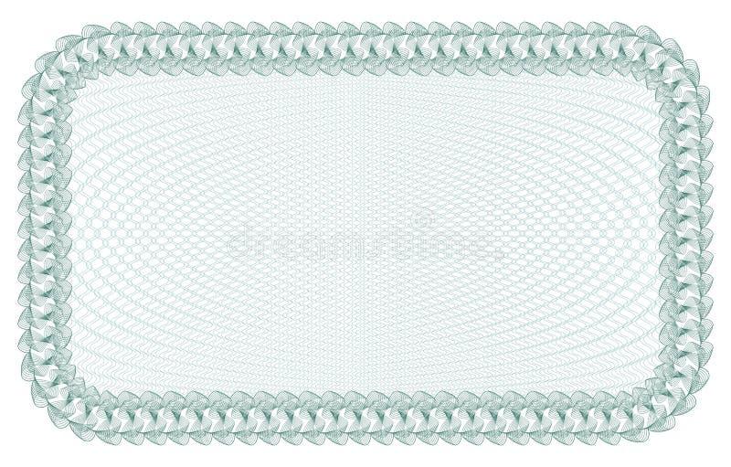 Guilloche-Hintergrund für Zertifikat, Banknote, Beleg, Gelddesign, Währung, Anmerkung, Kontrolle, Karte lizenzfreie abbildung