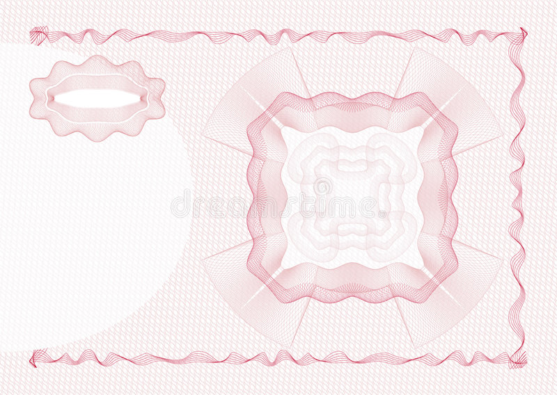Guilloche - Layout Stock Photography