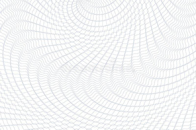 Guilloche money pattern. Guilloche background. Monochrome guilloche texture with waves. Original money pattern. For certificate, voucher, banknote, money design vector illustration