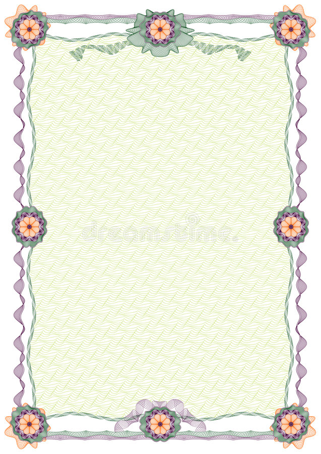 Guilloche: ornamental border and background royalty free illustration