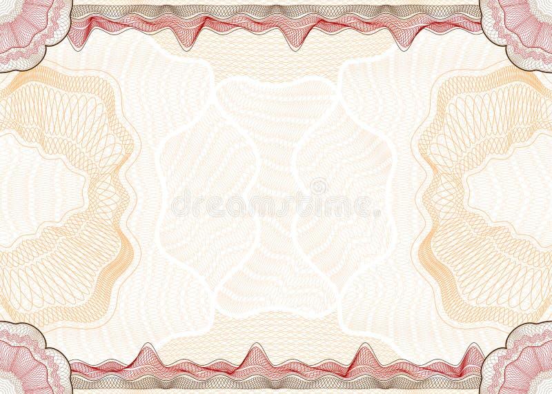 Guilloche patroon vector illustratie