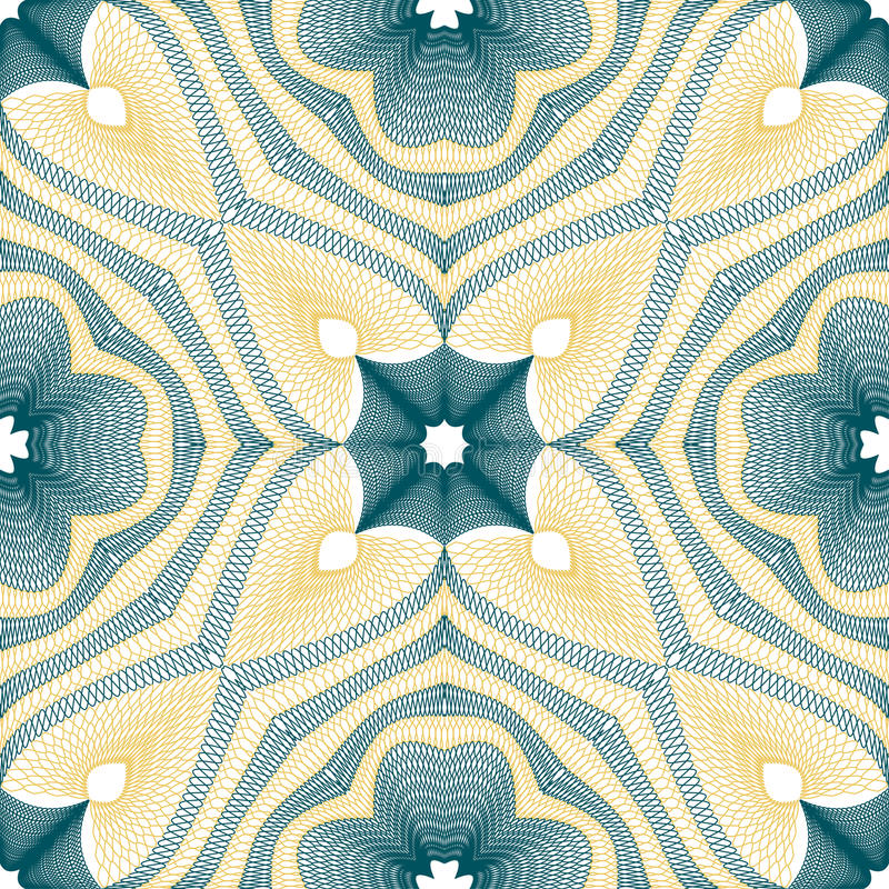 Guilloche pattern royalty free illustration