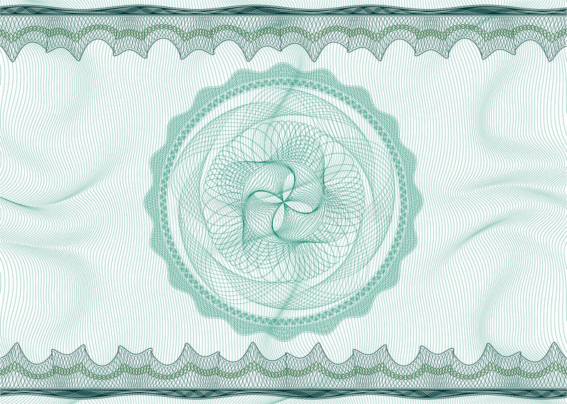 Guilloche pattern with rosette vector illustration