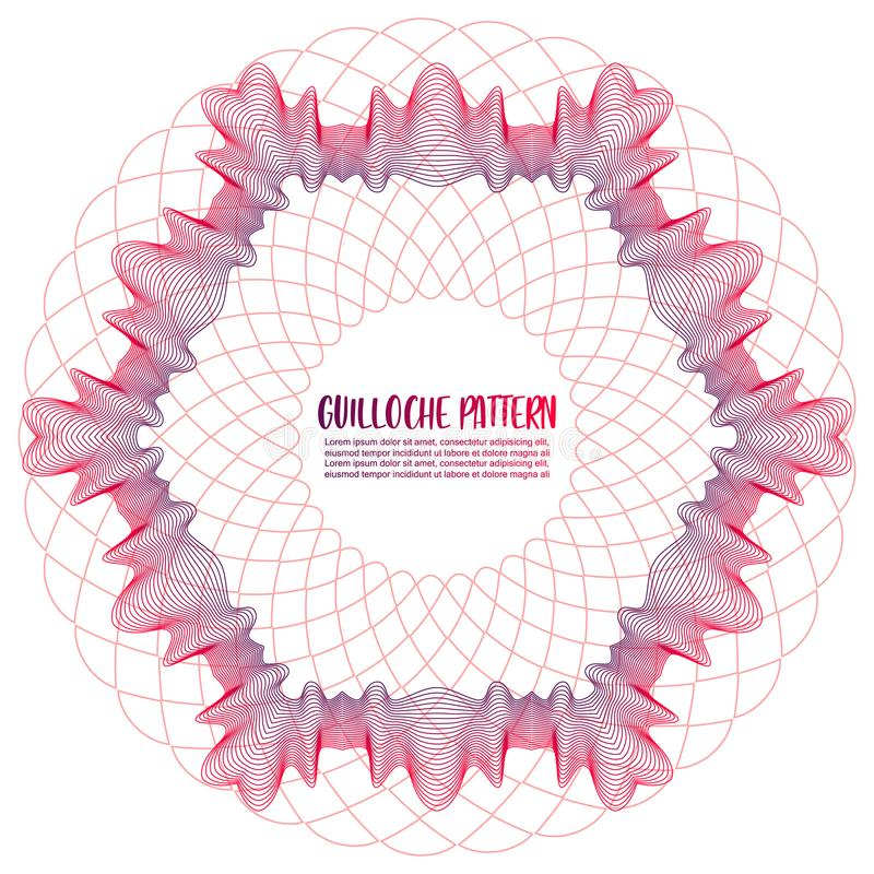Guilloche Pattern on white background royalty free stock image