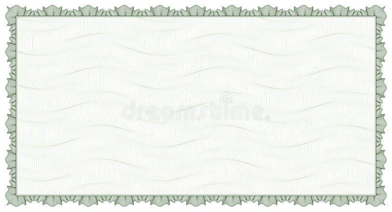 Guilloche - quadro com fundo ilustração do vetor