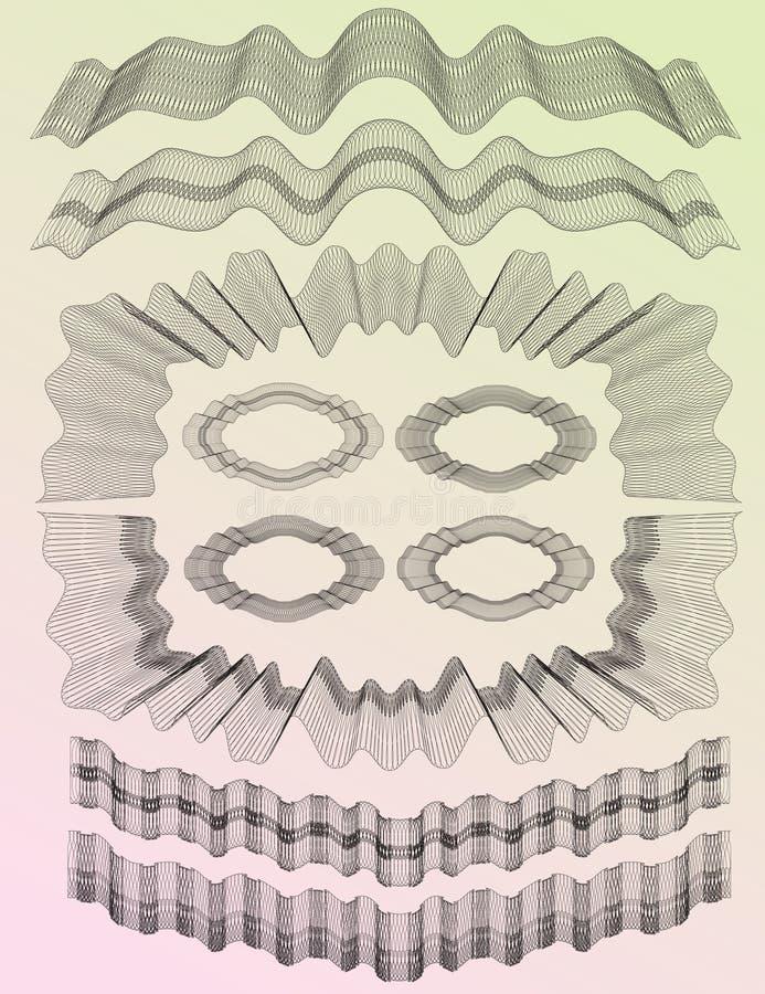 Guilloche Reeks 03 vector illustratie