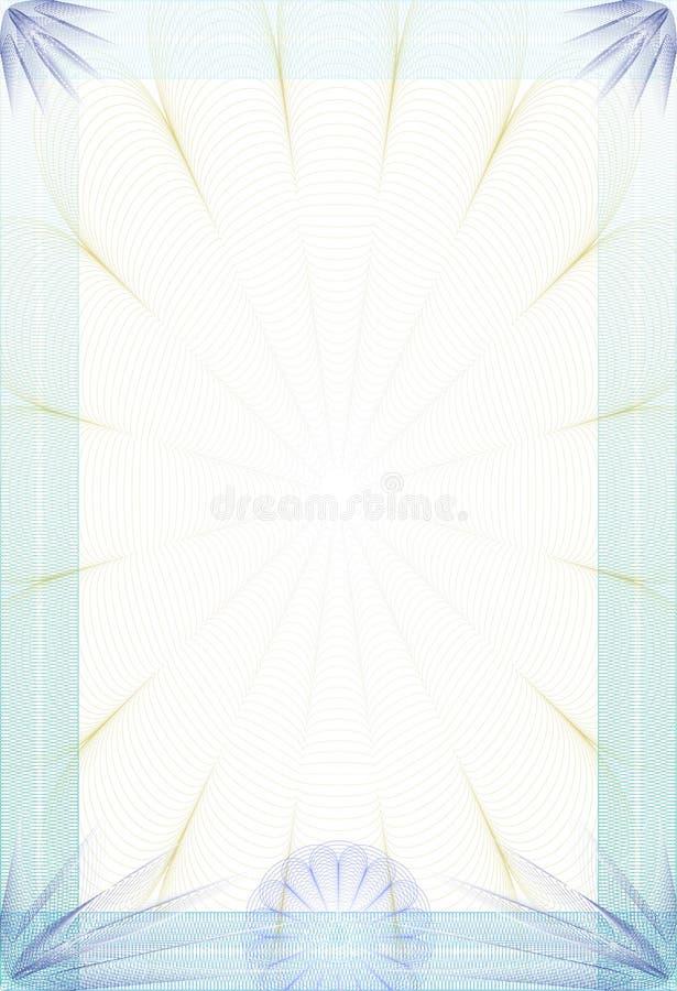 Guilloche stijl blanc - diploma of certificaat vector illustratie