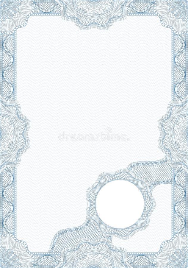 Guilloche stijlvorm voor diploma of certificaat royalty-vrije illustratie