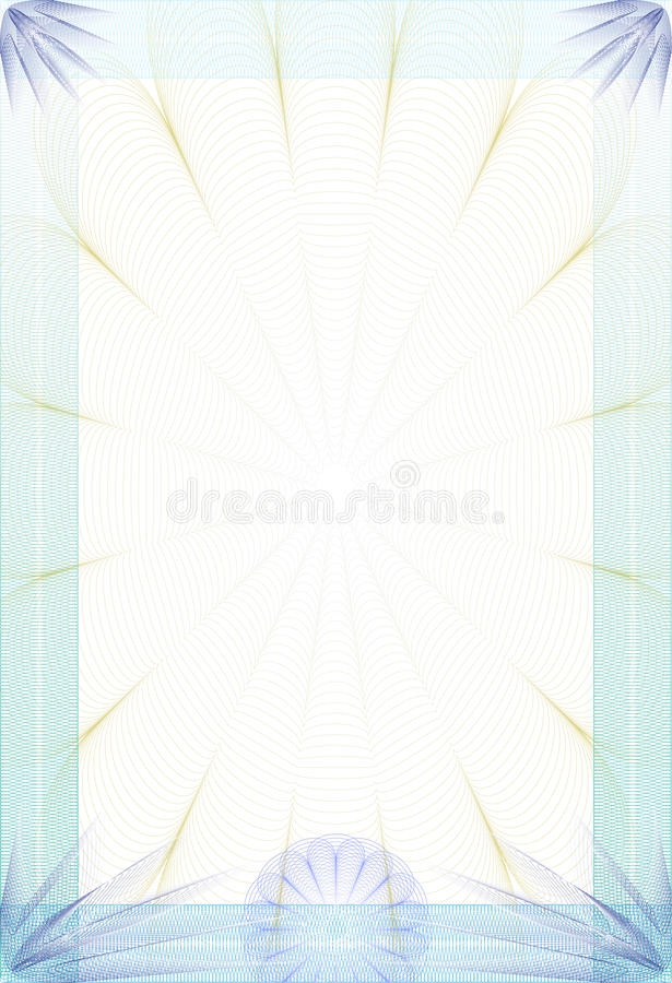 Guilloche style blanc - diploma or certificate vector illustration