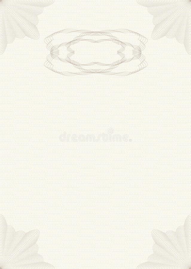 guilloche układ royalty ilustracja