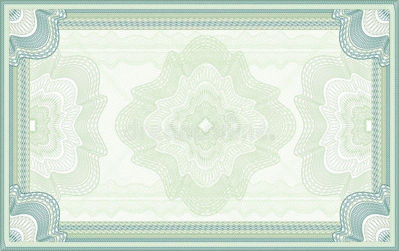 Guilloche vectorachtergrond stock illustratie