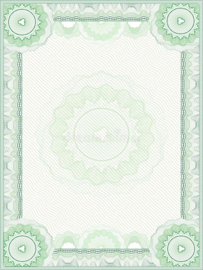 Guilloche vectorgrens stock illustratie