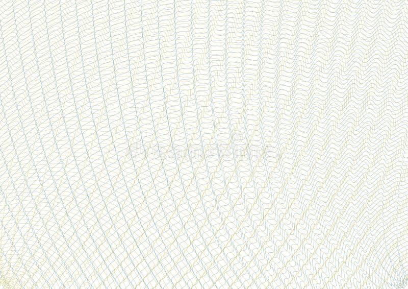 Guilloche vectornet als achtergrond Malplaatje om de effecten, giftcoupons, certificaten, diploma's, briefhoofden, documenten te  vector illustratie