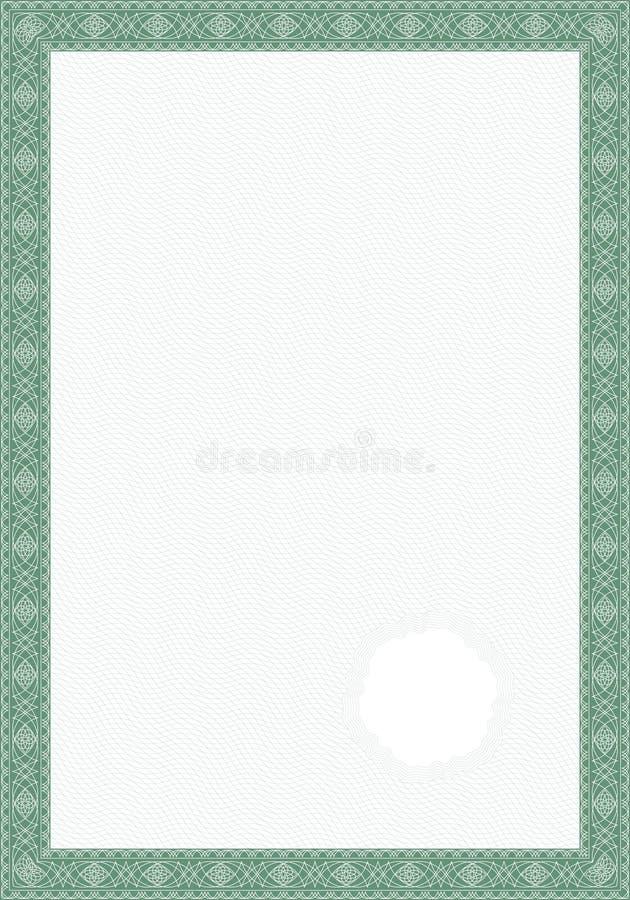 Guillocheartformular für Diplom oder Bescheinigung vektor abbildung