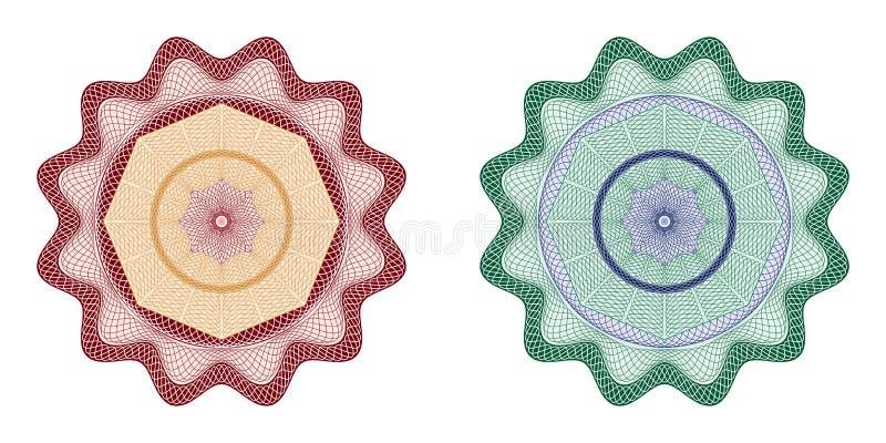 Guillochebeståndsdel stock illustrationer