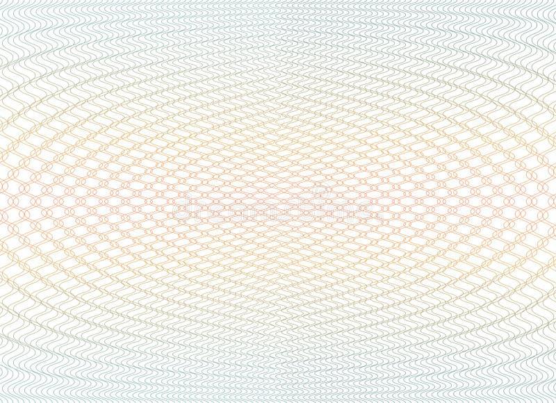 Guillochehintergrundbeschaffenheit - Steigungszickzack Für Zertifikat Beleg, Banknote, Beleg, Gelddesign, Währung lizenzfreie abbildung