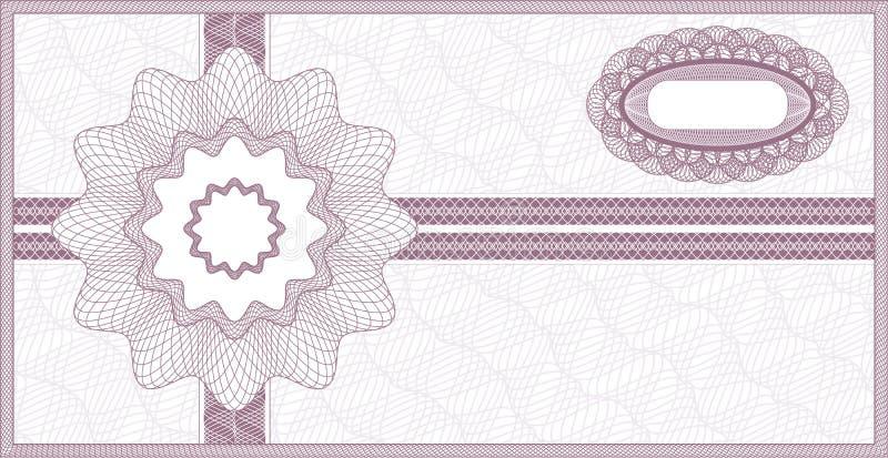 Guillochekupong royaltyfri illustrationer