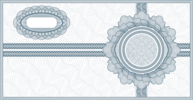 Guillochekupong stock illustrationer