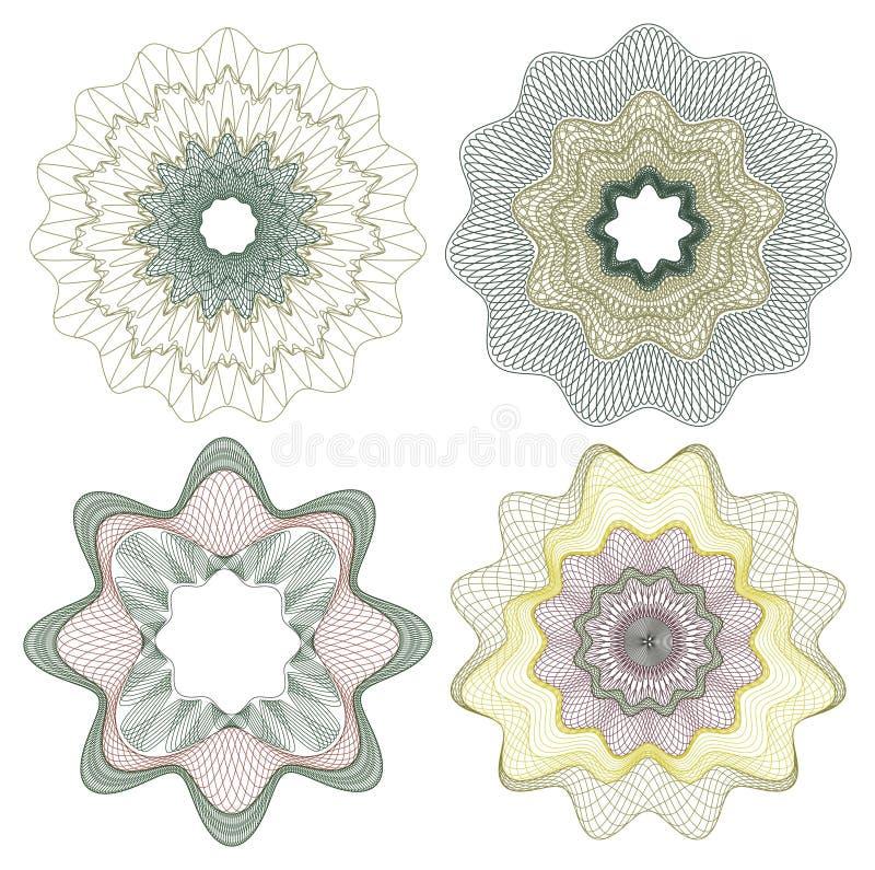 guillocherosette vektor illustrationer