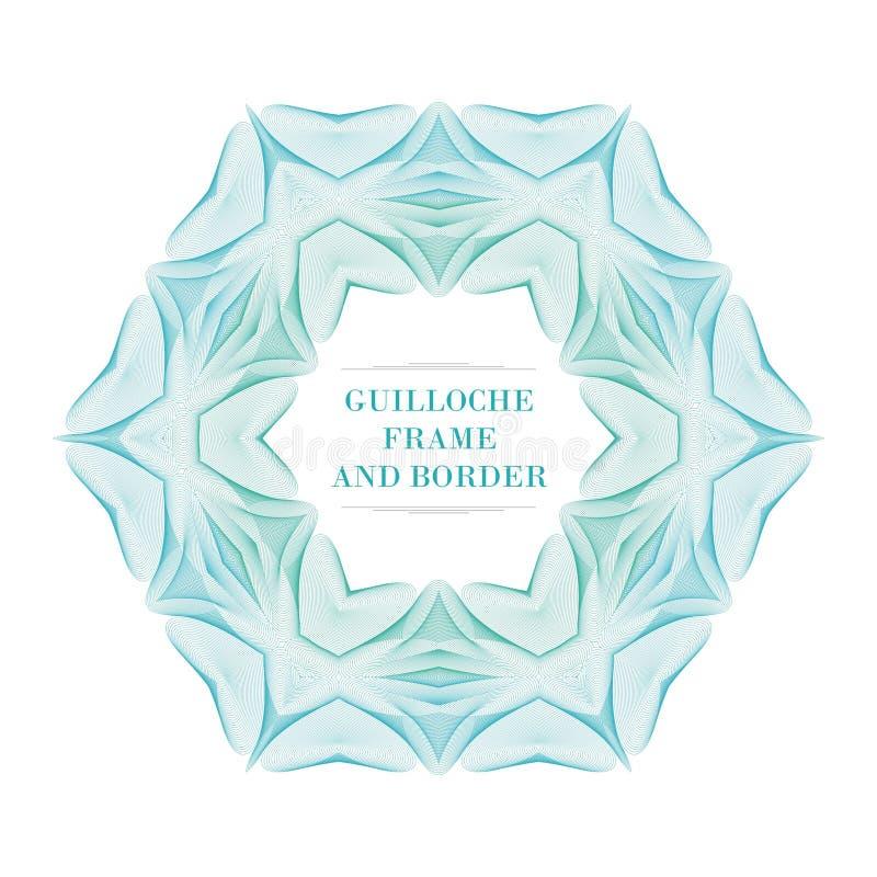 Guilloquis clásico con diseño del vector del estilo del hexágono libre illustration