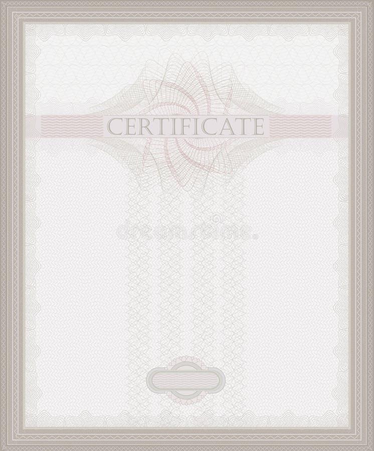 Guilloquis del certificado imagen de archivo libre de regalías