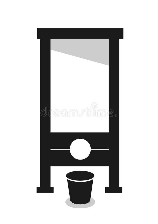 guillotine royalty-vrije illustratie