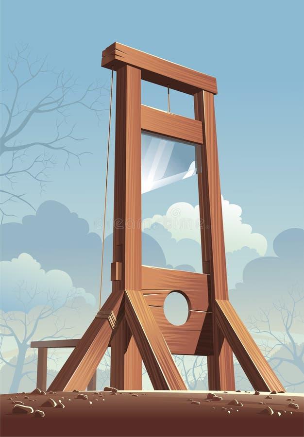 guillotine stock abbildung