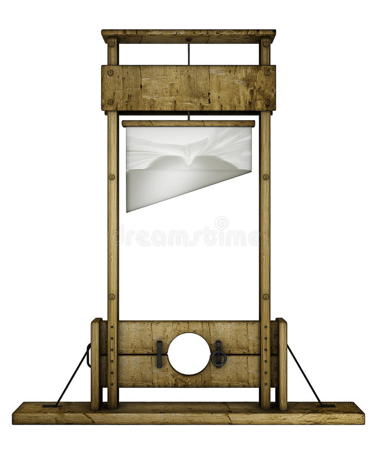Guillotine (front view) vector illustration